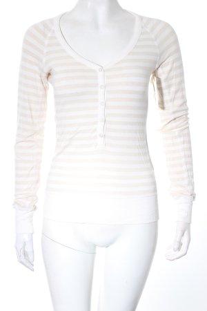 Armani Jeans Longsleeve beige-weiß Streifenmuster klassischer Stil