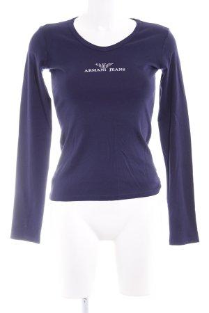 Armani Jeans Longsleeve dunkelblau Casual-Look