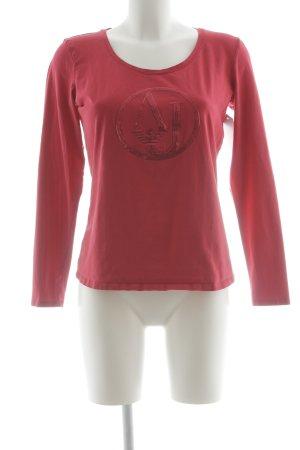 Armani Jeans Top à manches longues rouge clair style décontracté
