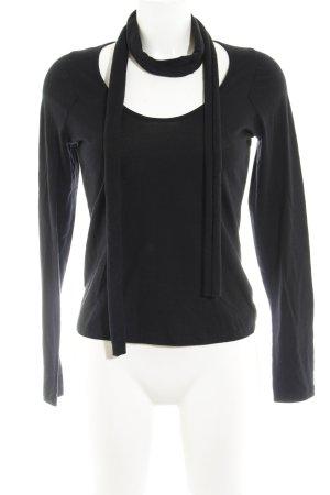 Armani Jeans Longesleeve zwart casual uitstraling