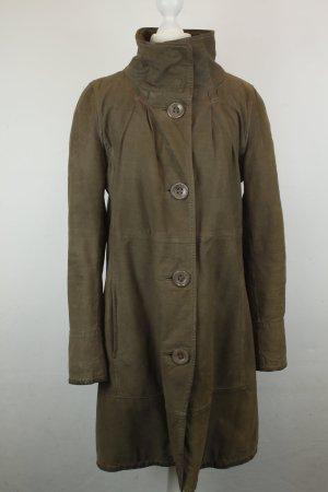 Armani Jeans Cappotto in pelle marrone chiaro Pelle
