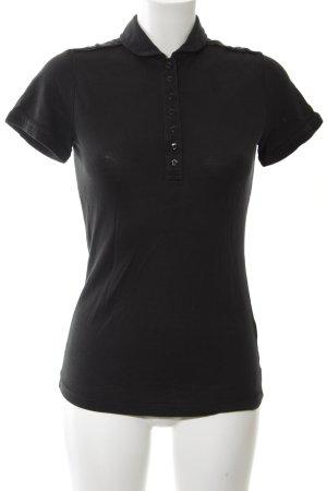 Armani Jeans Polo nero stile casual