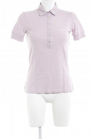 Armani Jeans Polo-Shirt hellrosa Casual-Look
