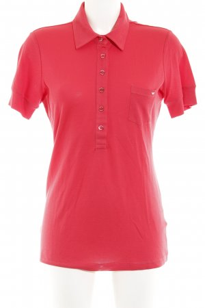 Armani Jeans Polo Shirt bright red-red casual look