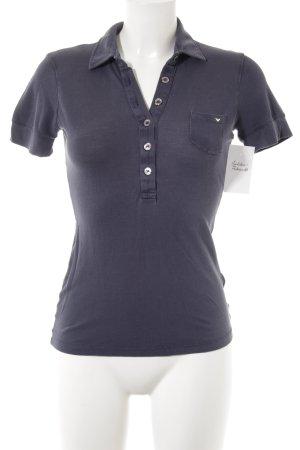 Armani Jeans Polo-Shirt stahlblau sportlicher Stil