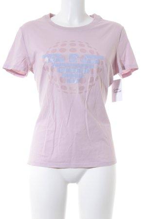 Armani Jeans Print-Shirt hellrosa-himmelblau Casual-Look