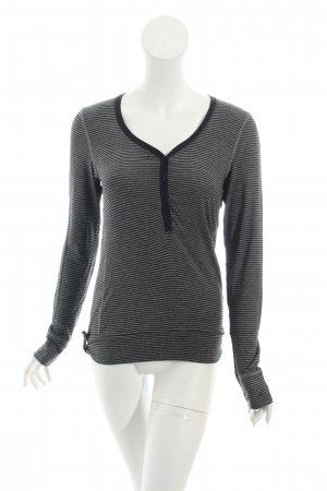 Armani Jeans Pullover schwarz-grau Streifenmuster Casual-Look