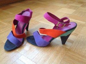 """Armani Jeans"" Pumps Sandalen mit Absatz Highheels Wildleder Multicolor Gr.38"