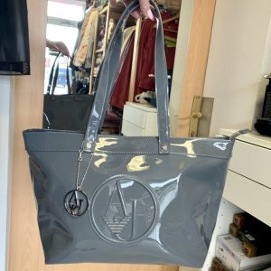 Armani Jeans Shopper grey imitation leather