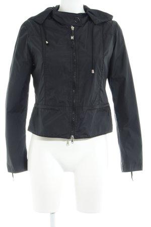 Armani Jeans Regenjas zwart casual uitstraling