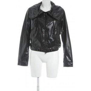 Armani Jeans Regenjacke schwarz Glanz-Optik
