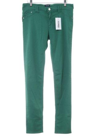 Armani Jeans Röhrenhose grün Casual-Look