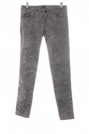 Armani Jeans Röhrenjeans taupe-anthrazit florales Muster Casual-Look