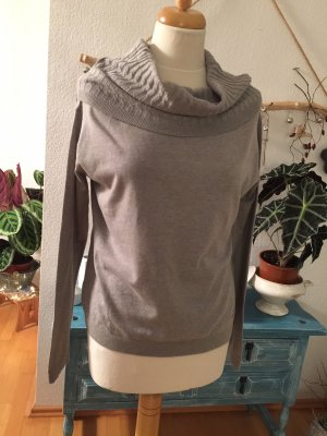 Armani Jeans Jersey de cuello alto color plata