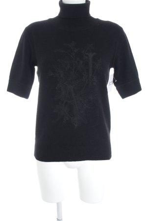 Armani Jeans Pull-over à col roulé noir style décontracté