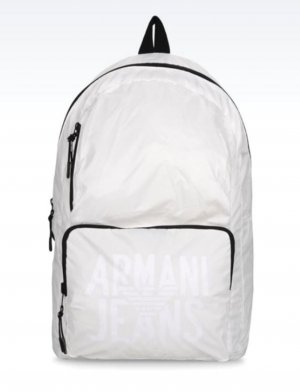 Armani Jeans Backpack white-black polyamide