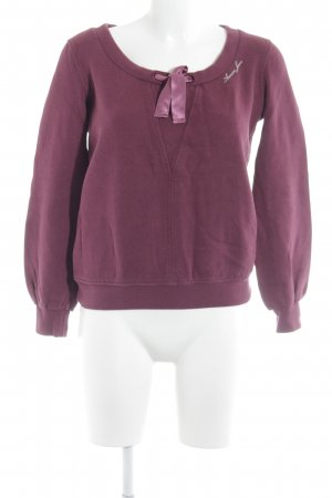 Armani Jeans Rundhalspullover purpur Casual-Look