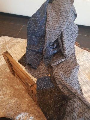 Armani Jeans Wollen sjaal blauw-zilver Wol