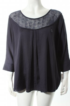 Armani Jeans Slip-over blouse donkerblauw casual uitstraling