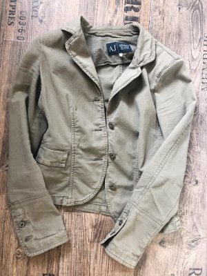 Armani Short Blazer green grey