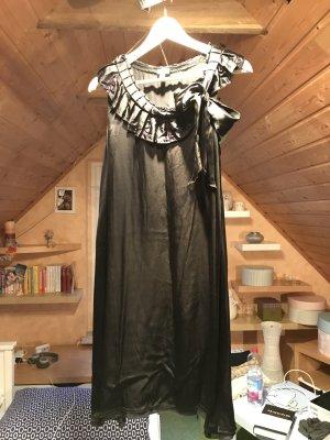 Armani Jeans Schwarzes Seidenkleid