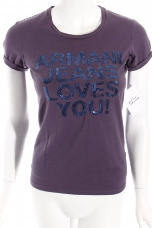 Armani Jeans Shirt lila-dunkelblau Street-Fashion-Look