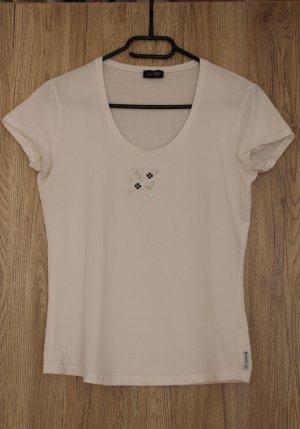 Armani Jeans Shirt T-Shirt Oberteil weiß Stretch S