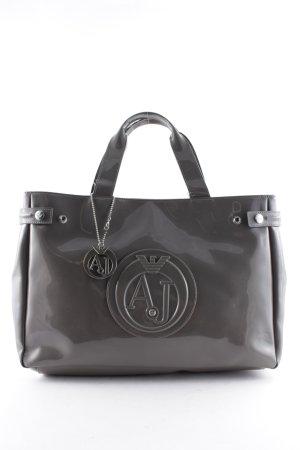 Armani Jeans Borsa shopper marrone-grigio stile classico