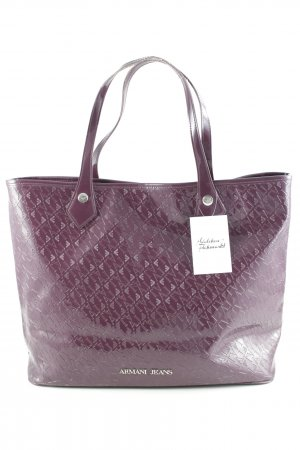 Armani Jeans Shopper grey lilac casual look