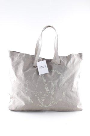 Armani Jeans Shopper hellbeige-graubraun schlichter Stil