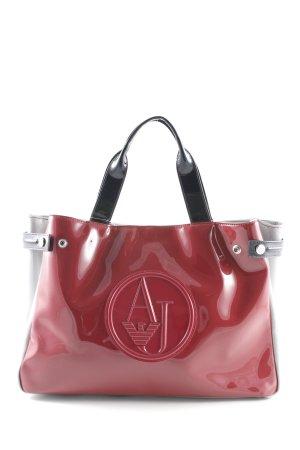 Armani Jeans Shopper karminrot-grau Street-Fashion-Look