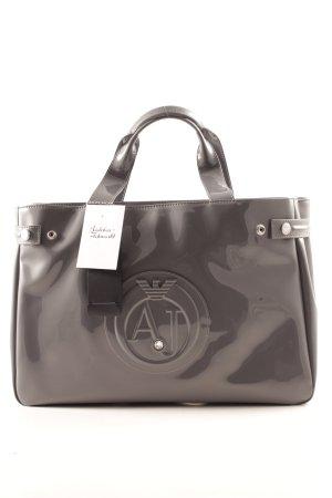 "Armani Jeans Shopper ""PVC Patent Logo Shopper Grigio"" petrol"