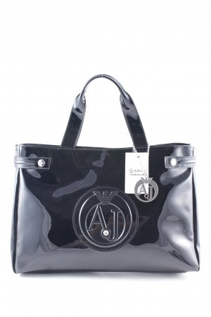Armani Jeans Shopper black printed lettering business style