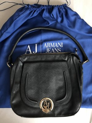 Armani Jeans Carry Bag black-gold-colored