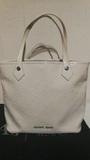 """Armani""""Jeans""""  Shopping Bag White"""
