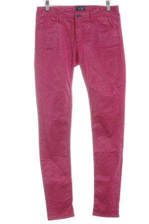 Armani Jeans Skinny Jeans magenta Glanz-Optik