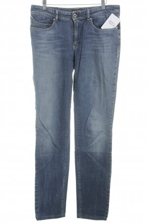 Armani Jeans Slim Jeans blau Washed-Optik
