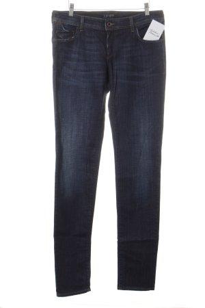 Armani Jeans Slim Jeans dunkelblau Washed-Optik