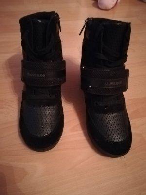 Armani Jeans Sneakers met hak zwart
