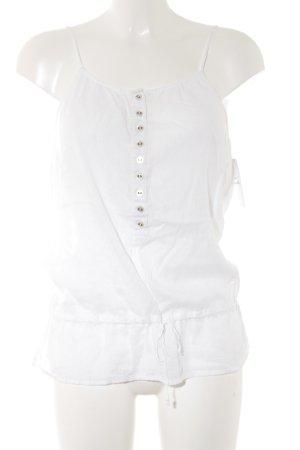 Armani Jeans Haut à fines bretelles blanc rayure fine style décontracté