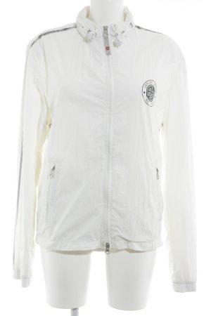 Armani Jeans Chaqueta deportiva blanco puro-negro letras impresas