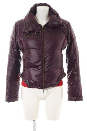 Armani Jeans Steppjacke lila Steppmuster Casual-Look