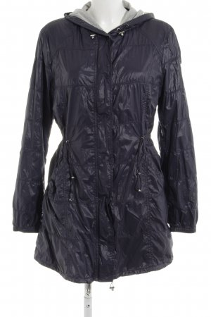Armani Jeans Quilted Jacket dark blue-light grey quilting pattern wet-look