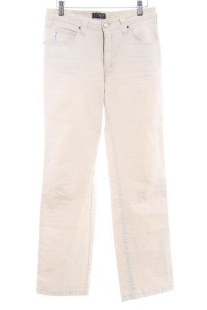 Armani Jeans Stoffhose creme Casual-Look