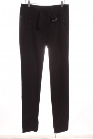 Armani Jeans Stoffhose schwarz Business-Look