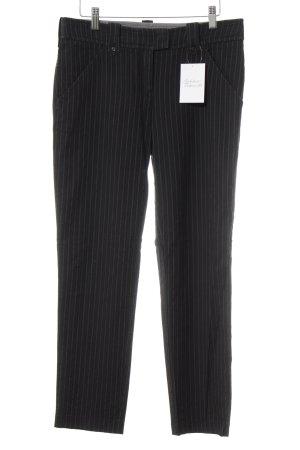 Armani Jeans Stoffhose schwarz-grau Nadelstreifen Business-Look