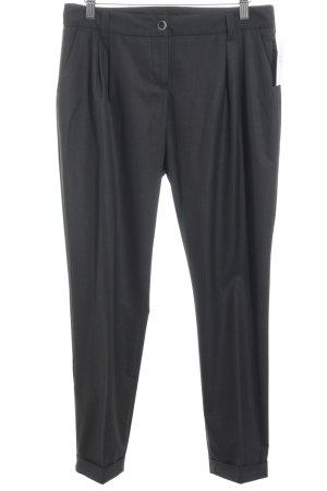 Armani Jeans Stoffhose schwarz-grau Streifenmuster schlichter Stil