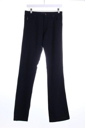 Armani Jeans Stoffhose schwarz klassischer Stil