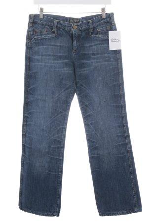 Armani Jeans Straight-Leg Jeans dunkelblau Street-Fashion-Look