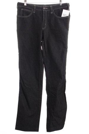 Armani Jeans Straight-Leg Jeans dunkelblau-weiß meliert Casual-Look